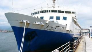 函館・青函連絡船の中にある線路(レール)