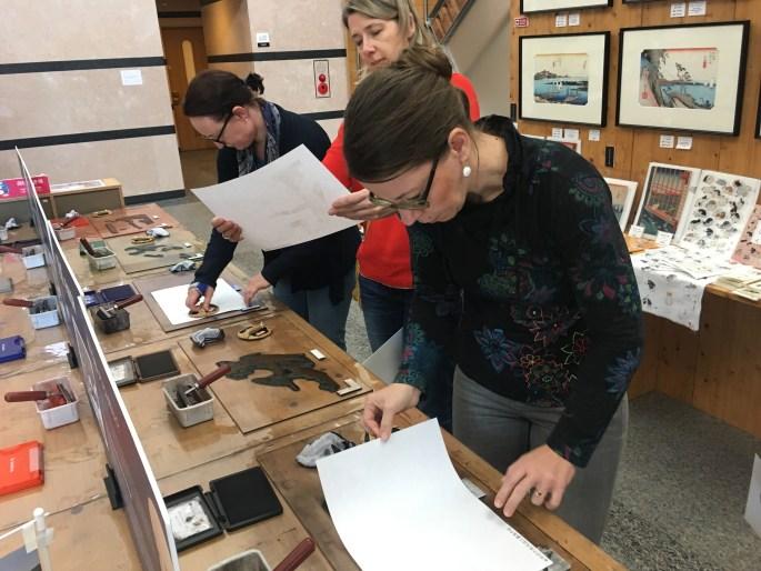 Try your hand at printing your own Tokaido ukiyoe at Tokaido Hiroshige Museum