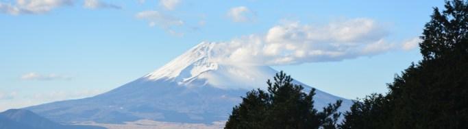 Mt Fuji from Yamanaka Castle Ruins