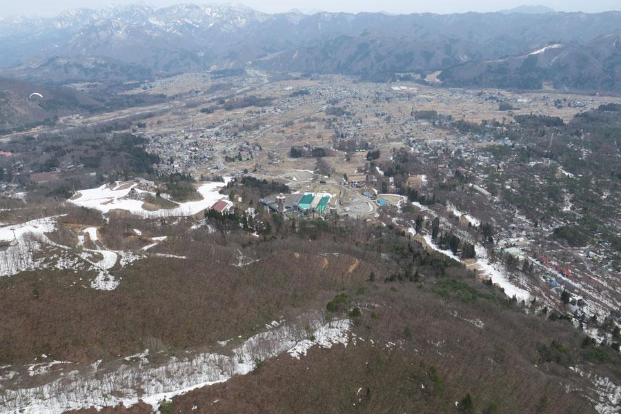 白馬村の残雪状況