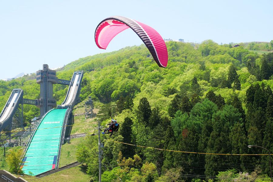 タンデムフライトとジャンプ台