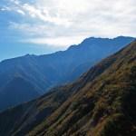 西日の五竜岳