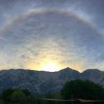 日暈と北アルプス