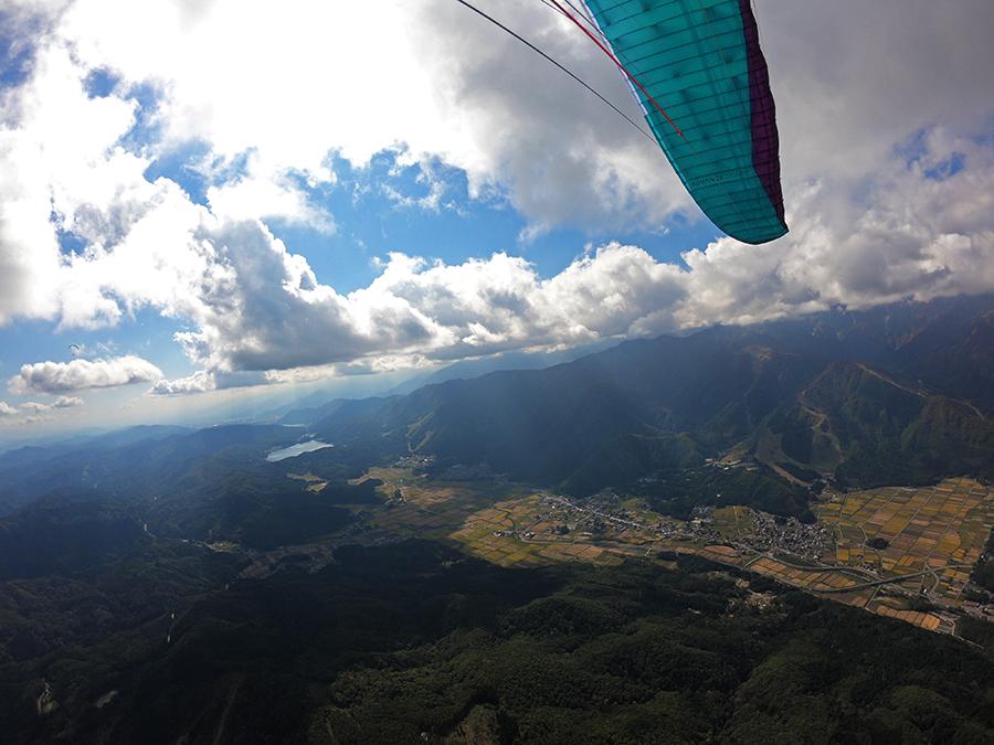 みねかた上空から青木湖