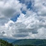 雲がモックモク