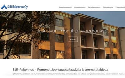SJR-rakennus yrityksen verkkosivut