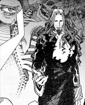 The Count's formal introduction in the Gankutsuou manga.