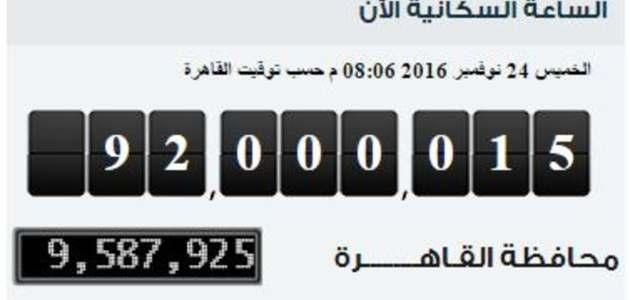 عدد سكان مصر و النمو السكاني و معلومات عن عدد سكان مصر