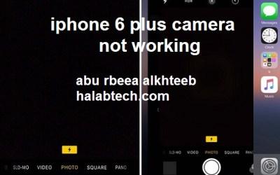 حل مشكله الكميرا خلفيه والامامية iphone 6 plus دون فك الايسي
