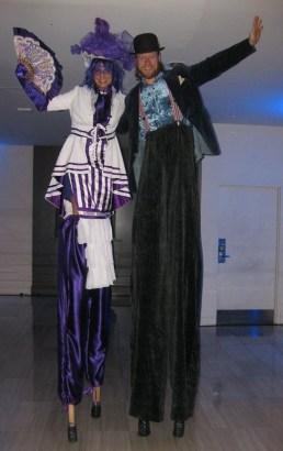 Stiltwalkers toronto madame mauve stilts performer