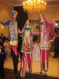 stiltwalkers Diwali Brampton Toronto stilts costumes Oct 2016
