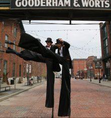 tuxedo stilts Toronto distillery