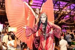 Hala on stilts Marakesh belly dance berber stiltwalking costume Toronto