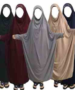 Muslim Women Maxi Prayer Abaya Full Cover Dress Robe Kaftan Arab Overhead Islamic Burqa Khimar Niqab Loose Jilbab Middle East Women Women's Abaya Women's Clothings