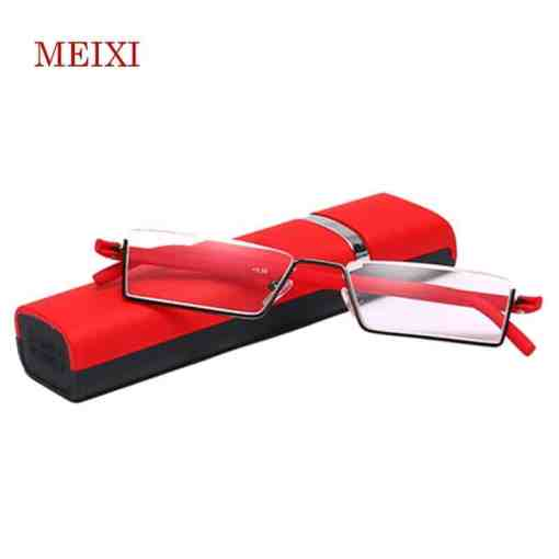 TR-90 Half Frame Slim Portable Black/Red/Brown Reading Glasses Anti-blue light With Box +1.0 +1.5 +2.0 +2.5 +3.0 +3.5 +4.0 Herbal Products