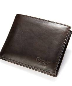 Purse Men Wallet Leather Short Wallet Men Genuine Leather Purse Wallets for Man Small Pocket Wallets Credit Card Money Bag 8866 Men Men's Bags Men's Wallets