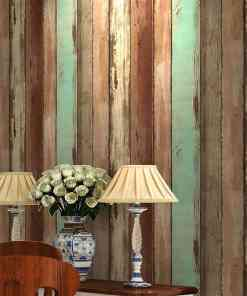 Retro Wood Wallpaper Modern Simple 3D Embossed Wood Board Texture Wall Paper Living Room Clothing Store Backdrop Wall Coverings Herbal Products