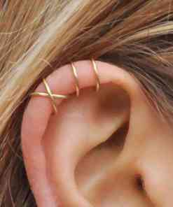 LETAPI 5pcs/set 2020 Fashion Gold Color Ear Cuffs Leaf Clip Earrings for Women Climbers No Piercing Fake Cartilage Earring Herbal Products