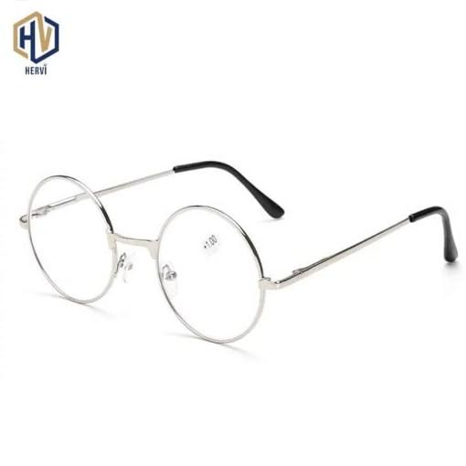 MOLNIYA Retro Round Reading Glasses Women Men Metal Presbyopic Glasses Myopic Lens Eyewear +1.0+1.5+2.0+2.5 +3.0 +3.5 +4.0 Eye Sight Glasses Goggles Home, Pets and Appliances