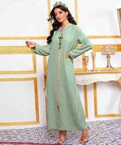 Abaya Dubai Turkey Muslim Fashion Hijab Dress American Islam Clothing African Dresses For Women De Moda Musulman Djellaba Femme Women Women's Abaya Women's Clothings