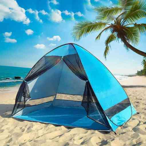 Anti-mosquito Beach Camping Tent Shade UV Protection Automatic Outdoor Portable Tent With Mesh Curtain Camping Shelter XA215A Luggage & Bags