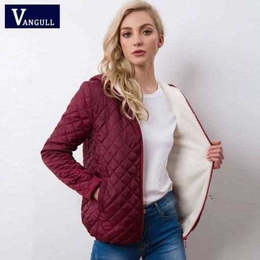 Autumn 2020 New Parkas basic jackets Female Women Winter plus velvet lamb hooded Coats Cotton Winter Jacket Womens Outwear coat Women Women's Clothings Women's Sweaters/Coat