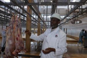The slaughterhouse general manager Ali Hassan Mohammed at the facility.
