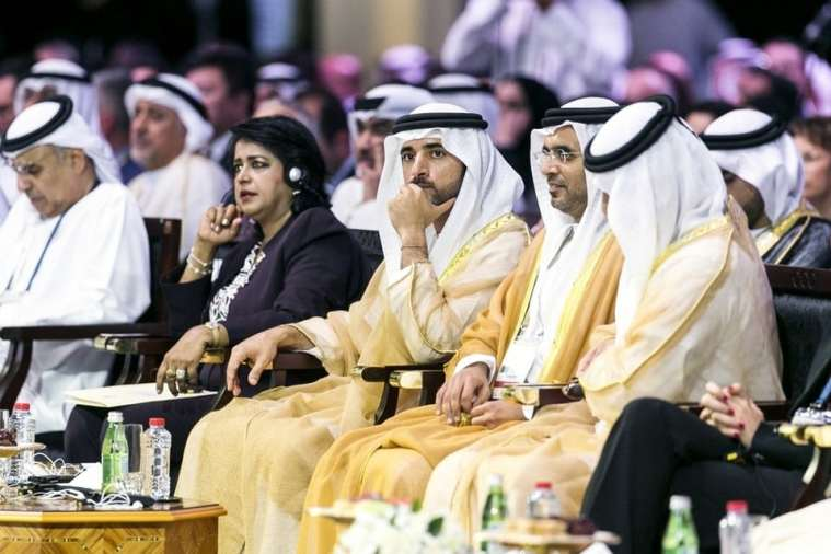 Sheikh Hamdan bin Mohammed, the Crown Prince of Dubai, attends the Opening Ceremony of the Global Islamic Economy Summit 2016. Reem Mohammed / The National
