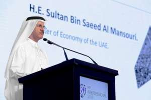 Sultan bin Saeed Al Mansouri, the economy minister, is also chairman of Dubai Islamic Economy Development Centre. Courtesy The Kimberley Process
