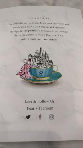 Pearls TeaRoom Drinks Dessert Menu 13