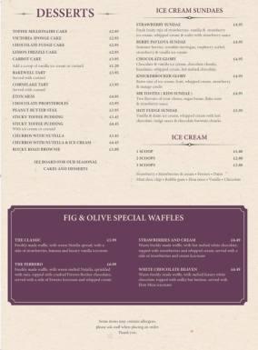 Fig & Olive - menu 4