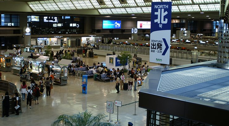 foreign travellers at narita airport