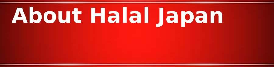 About Halal Japan