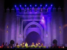 Image 10 - 7 May 2016 - R-L Shabaz Hussein, Soumik Datta, Rakesh Chaurasia, Sabir Khan, Rageshri Das, Alla Rakha Kalavant