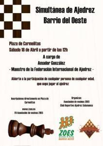 Simultánea de ajedrez de ZOES
