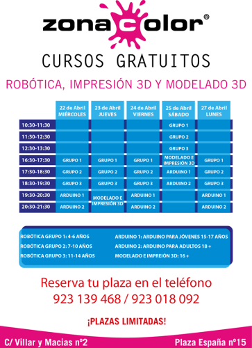 Talleres gratuitos en Zona Color