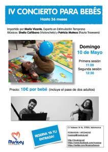 Concierto para bebés en Musicay el 10 de mayo