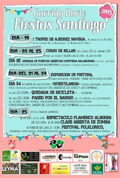 Fiestas de Santiago 2015 en el Barrio de Garrido
