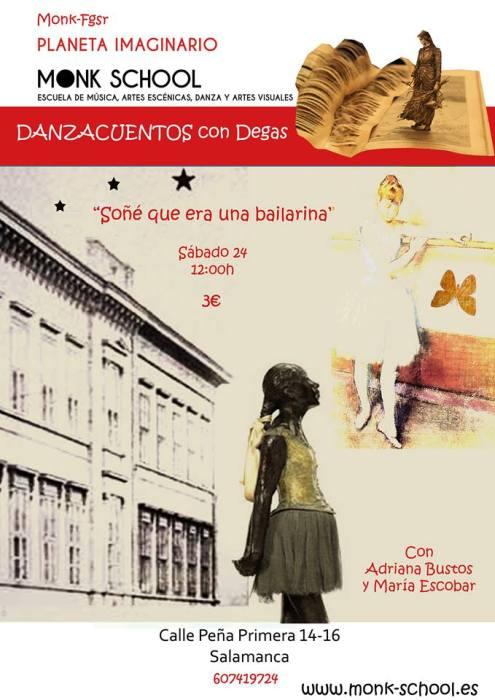 Danzacuentos con Degas el 24 de octubre en Monk