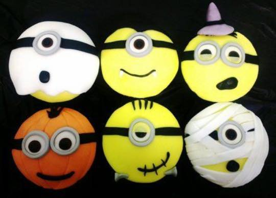 Galletas Minions de Halloween con Doirelú
