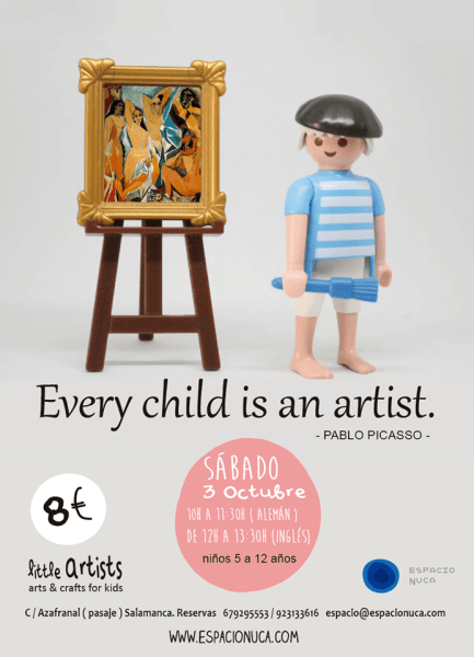 Picasso en Little Artists de Espacio Nuca