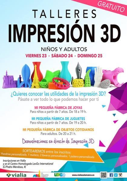 Talleres de Impresión en 3D en Vialia