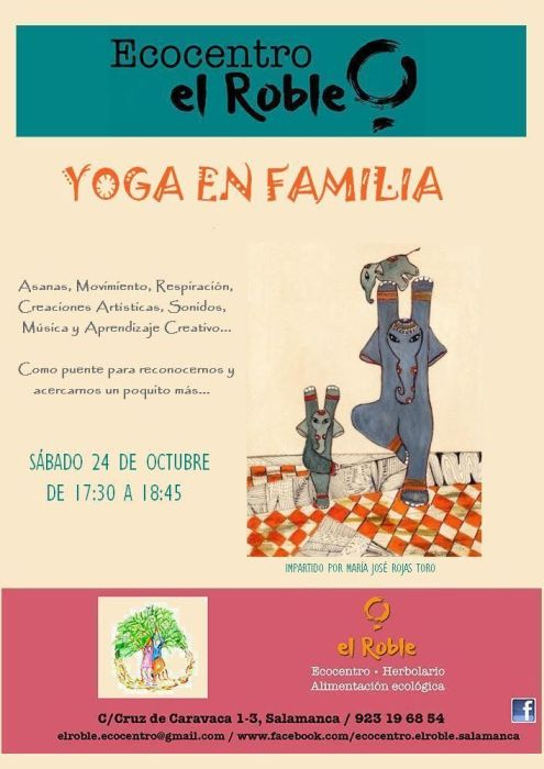 Yoga en familia en ecocentro el sábado 24 de octubre