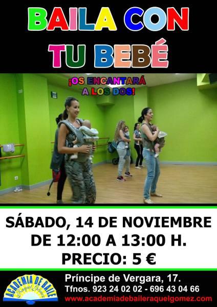 Baila con tu bebé en la Academia de Raquel Gómez Salamanca