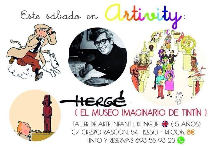 Hergé en el Artivity de Paz