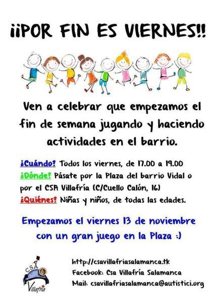 Por fin es viernes en el Barrio Vidal organizado por el CSA Villafria