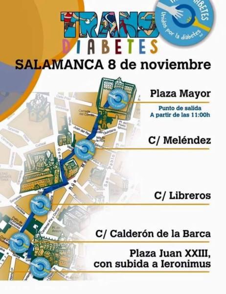 Transdiabetes Salamanca 8 de noviembre Recorrido