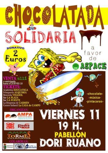 Chocolatada solidaria en Villamayor