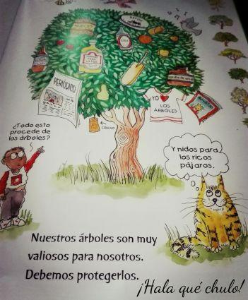 Ilustración del árbol de El gran libro de la ecología