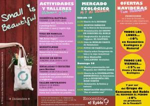 Programa de actividades de Small is beautiful de Ecocentro El Roble en Salamanca